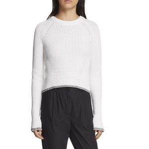 Rag & Bone Women's White Beatrix Pullover M